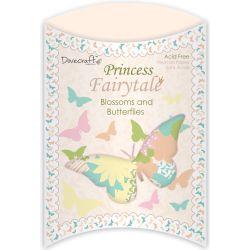 129544 [Trimcraft] Princess Fairytale ベーパーフラワー&バタフライ 50ピース (350円)