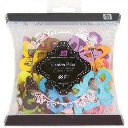 208142 [Prima] Garden Picks Handmade Paper Floral (Small Butterflies 48ピース) 550円