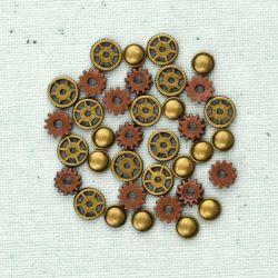 036055 [Prima] Junkyard Findings Metal Trinkets (Gears 36ピース)500円