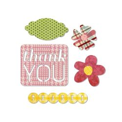 044351 Sizzix Thinlits Dies 6 (Thank You) 2000円