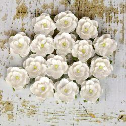 036307 [Prima] Avante Paper Flowers 1インチ 12ピース (White) 450x3