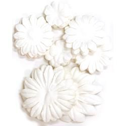 401587 [Kaisercraft] Paper Flowers 2cm, 35cm, 5cm Assorted 60ピース (snow)