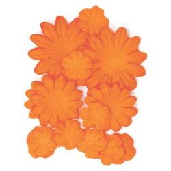 401597 [Kaisercraft] Paper Flowers 2cm, 35cm, 5cm Assorted 60ピース (Pumpkin)