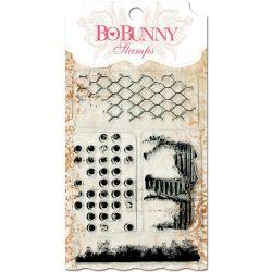 031018 [Bo Bunny] クリアスタンプ 4x6(Distressed Textures) 550x3