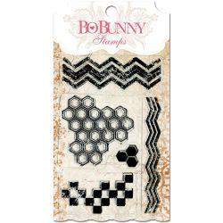 031020 [Bo Bunny] クリアスタンプ 4x6 (Geometric Patterns) 550x3
