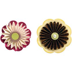 470556 Sizzix Sizzlits Die Set 3 (ccordion Fold Flowers Set) 2000