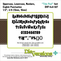 041725 Die-Versions 4X4 Font Die (Tide Pool) 3000