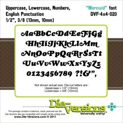 041727 Die-Versions 4X4 Font Die (Mermaid) 3000