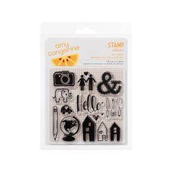 335300 [American Crafts] Amy Tangerine Ready Set Go アクリルスタンプ 4X4 650