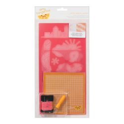 043662 [American Crafts] Amy Tangerine Embroidery ステンシルキット (Capture) 950