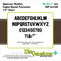 041712 [Die-Versions] 3X3 Font Die (My Micro) 1500