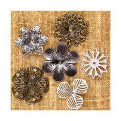 036221 [Prima] Sunrise Sunset Mechanicals Metal Vintage Trinkets (Medium Flower) 500