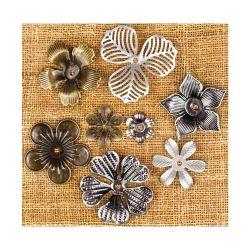 036222 [Prima] Sunrise Sunset Mechanicals Metal Vintage Trinkets (Mini Flowers) 500