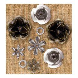 036223 [Prima] Sunrise Sunset Mechanicals Metal Vintage Trinkets (Roses) 500