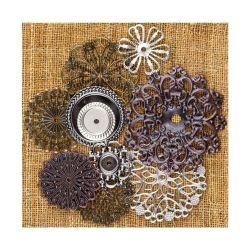 036230 [Prima] Sunrise Sunset Mechanicals Metal Vintage Trinkets (Flowers Small) 500