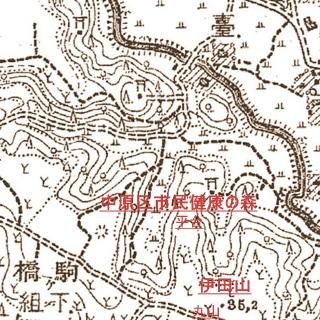 井田山付近 明治42年