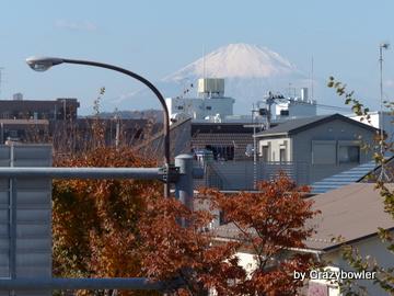 平塚 崇善小学校前交差点 陸橋からの富士山