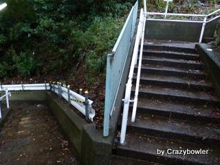 日吉5丁目 慶応大学裏の階段