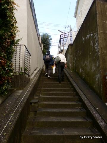 駒林神社(横浜市)横を登る
