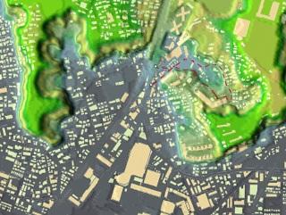箕輪町俯瞰図(横浜市)