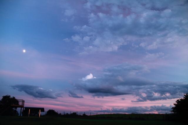 237.ピンクに焼けた東の空JPG