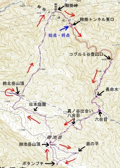 20120614御池岳ルート