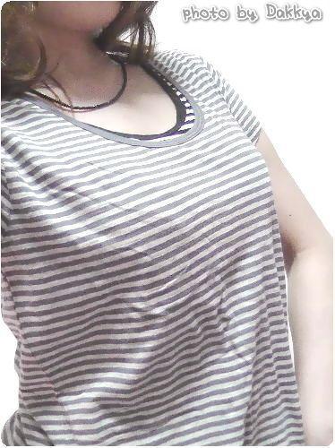 無印良品ネットストアの重ね着Tシャツ