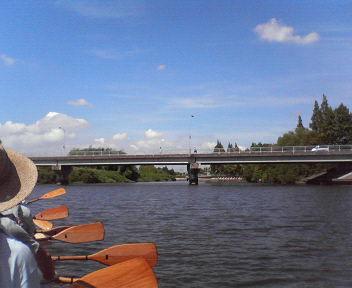 20120825将監川にかかる布鎌大橋(一丁目方向から2丁目)