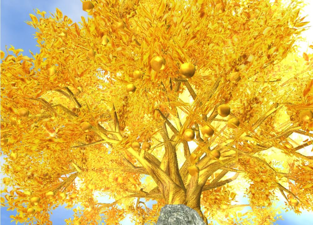 黄金の木 アップ