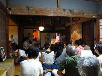 浅羽克典さん@「作家と俳優による『安倍七騎』演義」