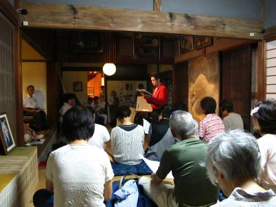 奥野晃士さん@「作家と俳優による『安倍七騎』演義」