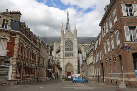 アミアン ノートルダム大聖堂を振り返る