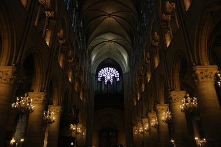 パリ ノートルダム大聖堂にて