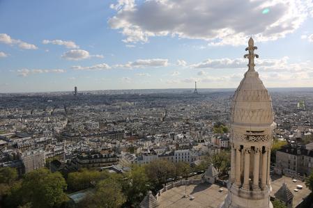 サクレクール寺院からの眺め