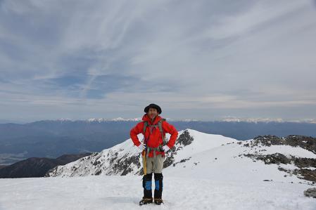 木曽駒山頂にて