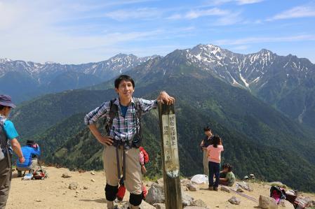 焼岳頂上にて