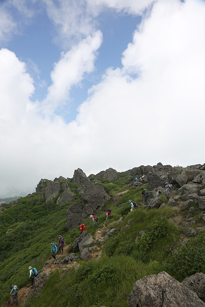 妙高山山頂付近