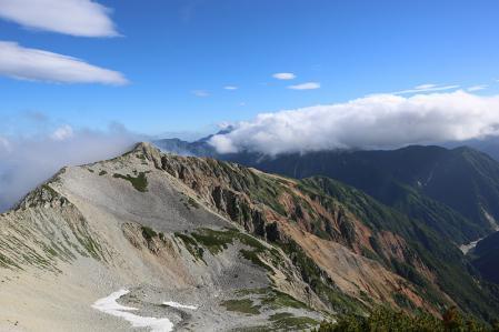 頂上から剱・立山方面
