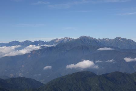 後立山連峰クッキリ