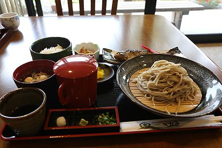 庄川ざるそば定食1700円