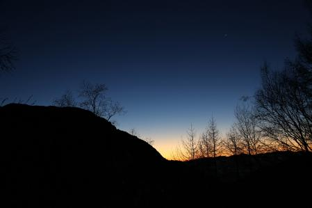 燕岳 夜明けのグラデーション