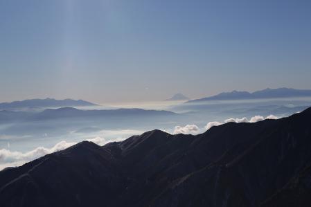 燕岳 八ヶ岳、富士山、南ア