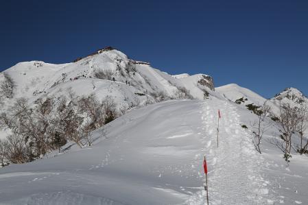 燕岳 最高の稜線