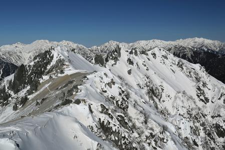 燕岳 燕岳頂上から北燕岳と立山連峰