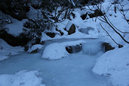 南沢は厳冬期の雰囲気