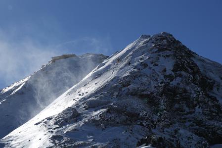 赤岳への最後の急登