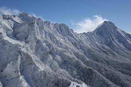 赤岳主稜線がしっかり見えてきた