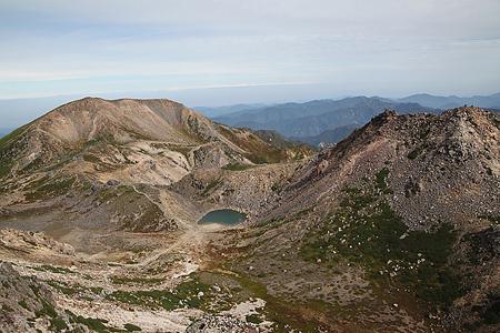 白山御前峰からの眺め