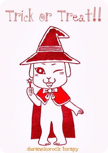ハロウィンはんこ 魔女っ子ミーコの巻