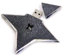 手裏剣型USBメモリ 蓋開け